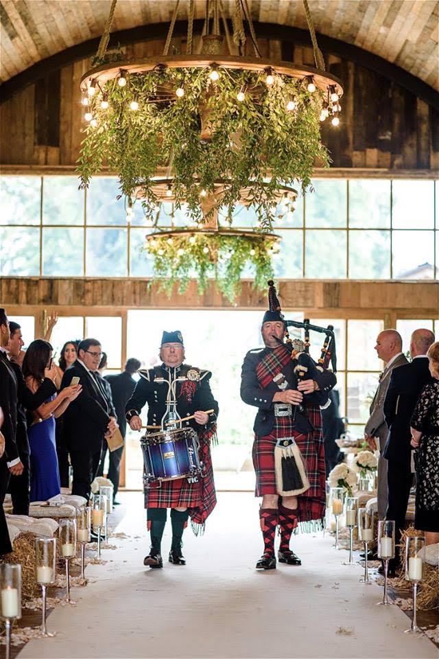 bagpipe players wedding